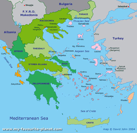 davidjohnberlin map of Greece