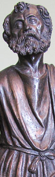 Bronze statue of Saint Paul the Apostle, Venice circa 1500, at The Cheshire Cat Blog