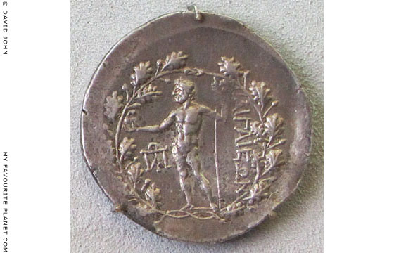 Stephanophore tetradrachm from Aigai, Anatolia, after 190 BC at The Cheshire Cat Blog