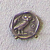 Athenian obol, 454 - 404 BC at The Cheshire Cat Blog