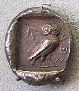 Athenian tetrdrachme, circa 500 BC at The Cheshire Cat Blog