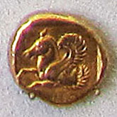 Stater from Lampsakos in Anatolia, 390-350 BC at The Cheshire Cat Blog
