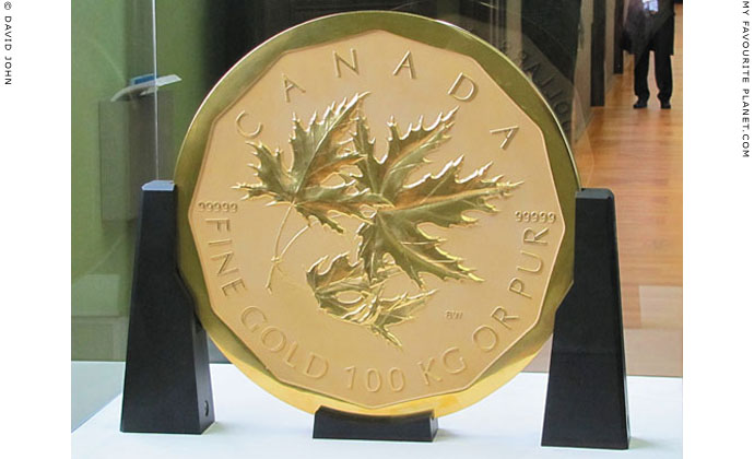 A one million dollar Canadian Big Maple Leaf gold coin at The Cheshire Cat Blog