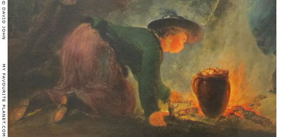A Prussian soldier's wife cooks a pot of potatoes on the night before the Battle of Torgau at The Cheshire Cat Blog