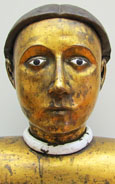 Reliquary bust of an unknown saint, France 15th century, at The Cheshire Cat Blog