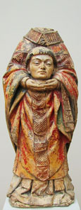 Statue of Saint Dionysius, France 1460-70, at The Cheshire Cat Blog