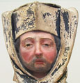 Head of a French priest 1450, at The Cheshire Cat Blog