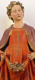 Terracotta statue of Saint Dorothy by Andrea della Robbia, Florence, circa 1550 at The Cheshire Cat Blog