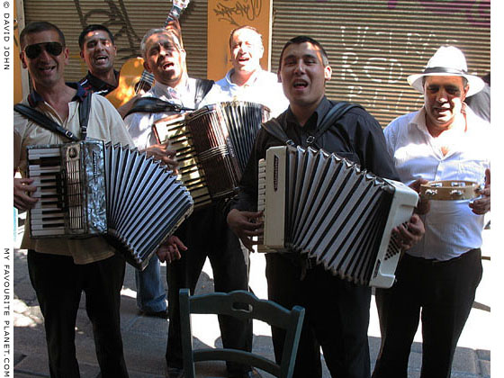 Street musicians in Monastiraki, Athens, Greece at The Cheshire Cat Blog