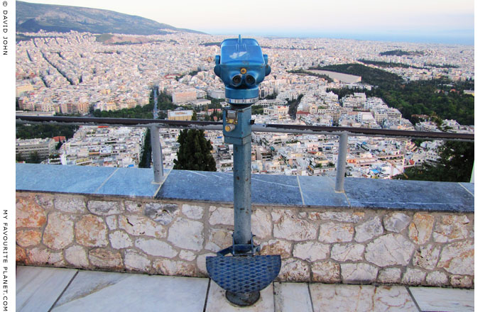 The view southwest from Mount Lycabettos, Athens at The Cheshire Cat Blog