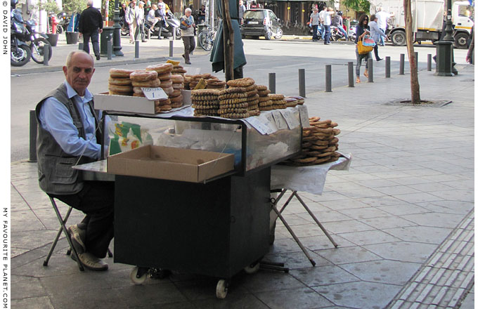 Pastry vendor, Athinas Street, central Athens at The Cheshire Cat Blog