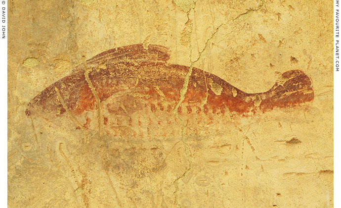 Fish fresco in the Terrace Houses, Ephesus, Turkey at The Cheshire Cat Blog