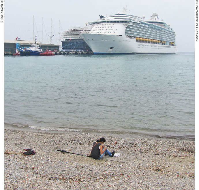 Giant cruise ships moored in Kusadasi, Turkey at The Cheshire Cat Blog