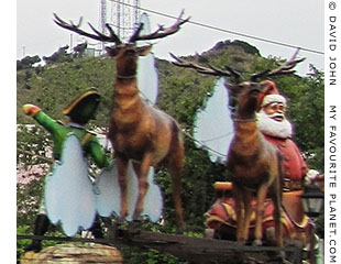 Santa, reindeer and a Lilliputian in Söke, Turkey