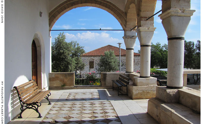 The porch of the mosque in Didyma, Aydin Province, Turkey at The Cheshire Cat Blog