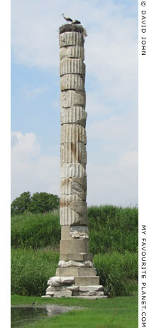 The last standing column of the Great Temple of Artemis in Ephesus, Selcuk, Turkey