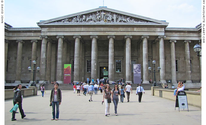The main entrance to the British Museum, London at The Cheshire Cat Blog