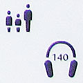 A pictogram for multimedia guides in the British Museum, London