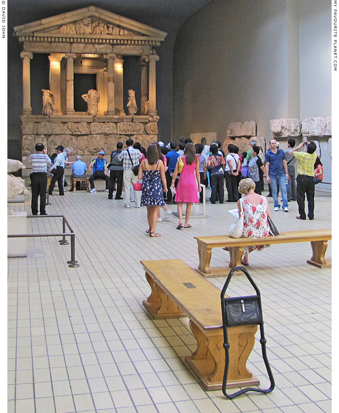 Visitors to the British Museum crowd around the Lycian Nereid Monument at The Cheshire Cat Blog