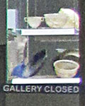 Gallery closed sign at the British Museum