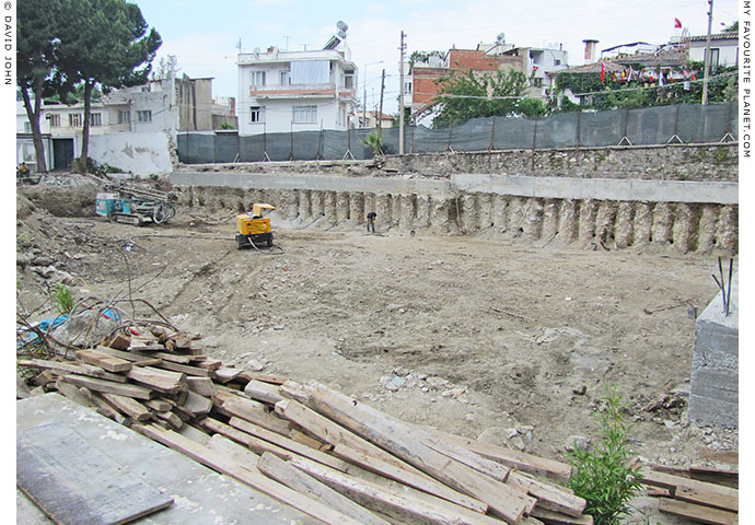 The construction site of the new extension to the Ephesus Museum, Selcuk, Turkey at The Cheshire Cat Blog