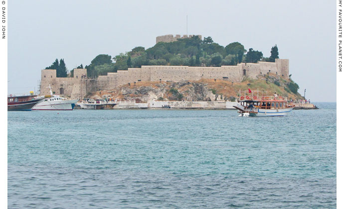 The Genoese fortress on Guvercin Ada (Dove Island), Kusadasi, Turkey at The Cheshire Cat Blog