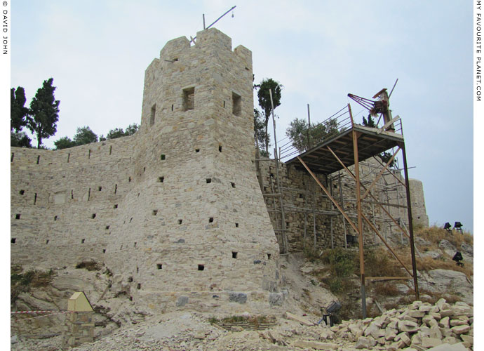 Renovation of the Genoese fortress on Güvercin Ada (Pigeon Island), Kusadasi, Turkey at The Cheshire Cat Blog