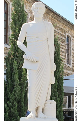 Statue of Aristotle by A. Alexiades outside Polygyros Town Hall
