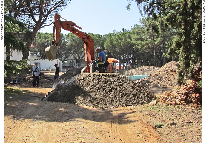 Museum boom - Construction work on the new archaeological museum in Polygyros, Greece at The Cheshire Cat Blog