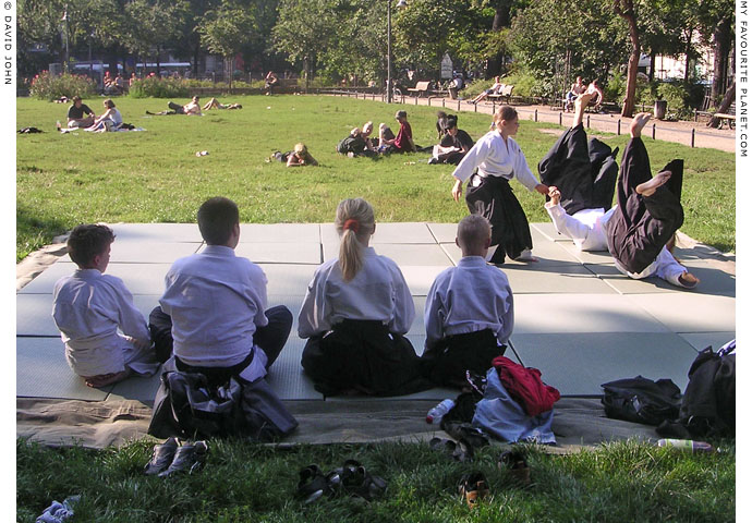 Friedrichshain children demonstrate Aikido at The Cheshire Cat Blog