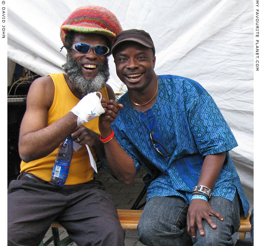 Musicians Foo Fanick and Akinola Famson at The Cheshire Cat Blog