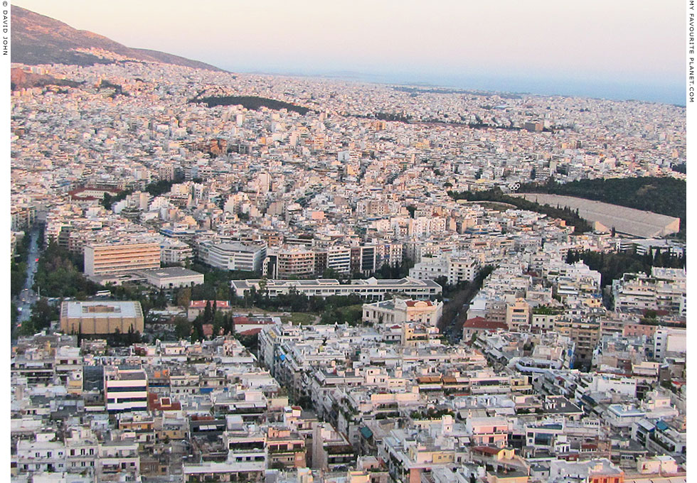 Panoramic view of the area around Aristotle's Lyceum, Athens, Greece at The Cheshire Cat Blog