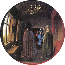 the arnolfini marriage The arnolfini portrait (or the arnolfini wedding, the arnolfini marriage, the portrait of giovanni arnolfini and his wife, or other titles) is a 1434 oil painting on oak panel by the early netherlandish painter jan van eyck.