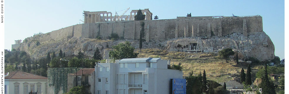 The south side of the Acropolis from the New Acropolis Museum at My Favourite Planet