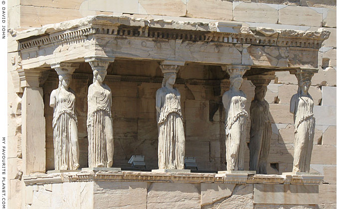 Caryatid From The South Porch Of The Erechtheion | www ...