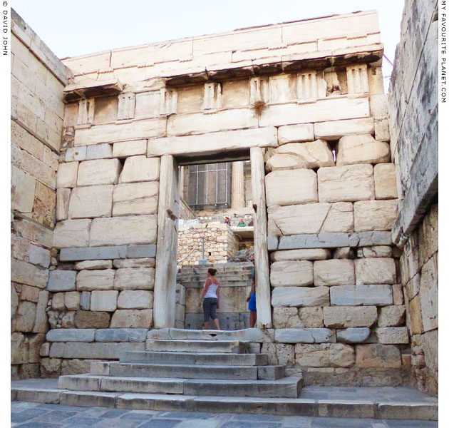 The entranceway to the Acropolis through the centre of the Beulé Gate at My Favourite Planet