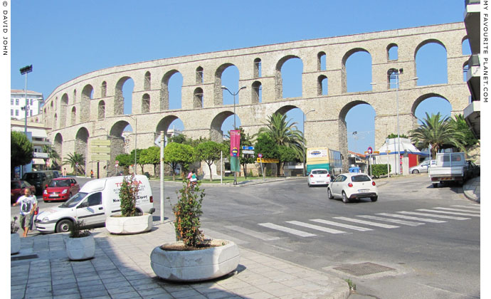 The west side of the Kamares aqueduct, Kavala at My Favourite Planet
