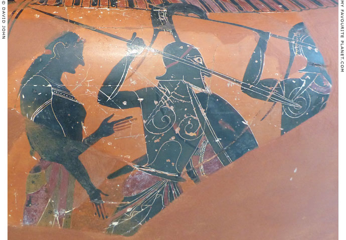 An Attic black figure column krater depicting warriors at My Favourite Planet