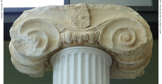 An Ionic capital from the temple of Parthenos of the ancient Neapolis at My Favourite Planet