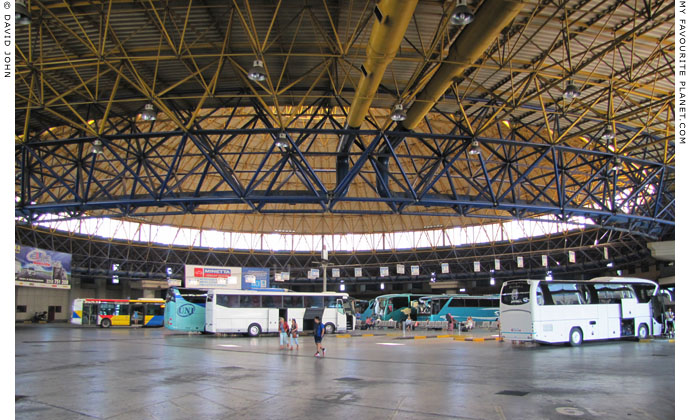 The inside of the main hall of the KTEL Macedonia central inter-city bus station, Thessaloniki, Greece at My Favourite Planet