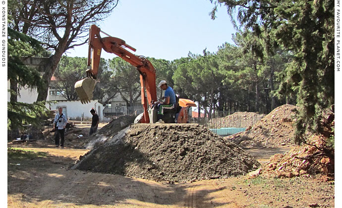 Construction work on the new archaeological museum in Polygyros, Greece at My Favourite Planet