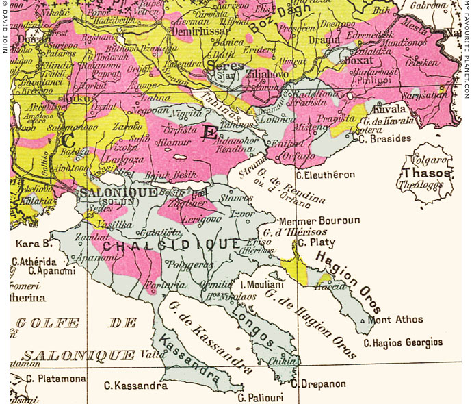 Stageira historical maps my favourite planet ethnographic map of macedonia 1914 sciox Images