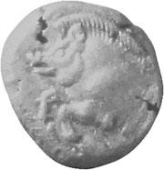 Silver coin of Stageira, depicting a wild boar