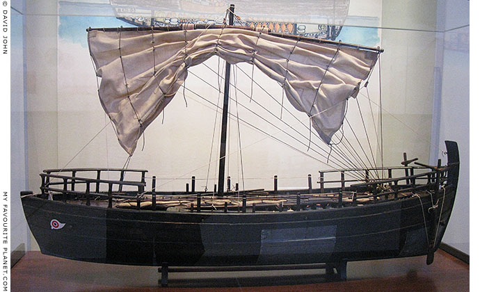Model of an ancient Greek merchant ship discovered off the coast of Kyrenia, Cyprus at My Favourite Planet