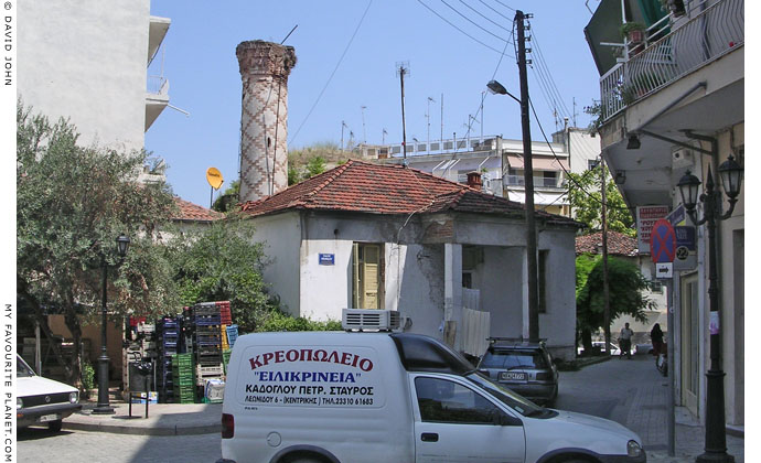 The Orta Camii mosque hidden among the houses in the centre of Veria, Macedonia, Greece at My Favourite Planet
