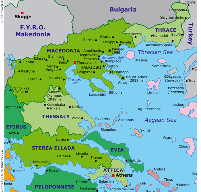 Interactive map of Macedonia, Greece at My Favourite Planet