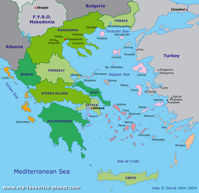 Map Of Greece World Maps Guide