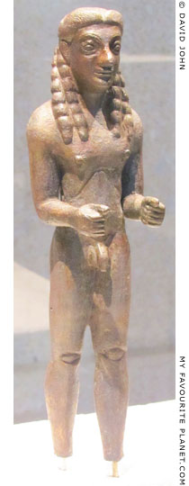 Archaic bronze kouros from Samos in the Neues Museum, Berlin at My Favourite Planet