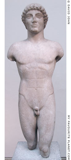An early 5th century BC kouros in the British Museum at My Favourite Planet