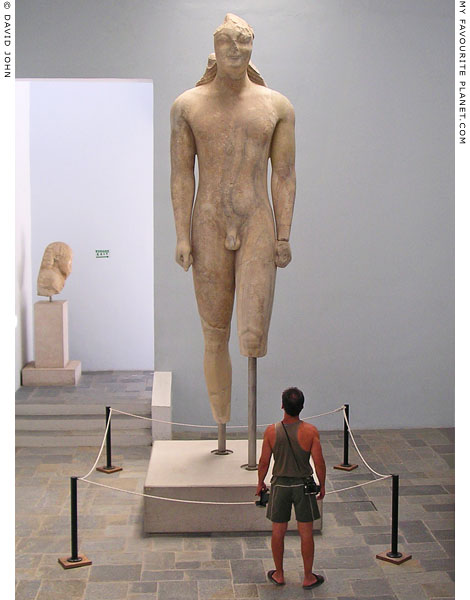 Colossal kouros statue in the Samos Archaeological Museum, Vathi, Samos island, Greece at My Favourite Planet